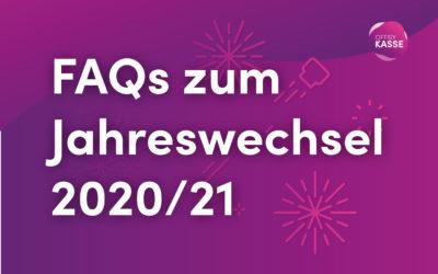 FAQs zum Jahreswechsel 2020/2021