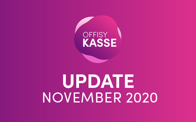 Update offisyKASSE November 2020