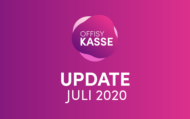 Update offisyKASSE Juli 2020